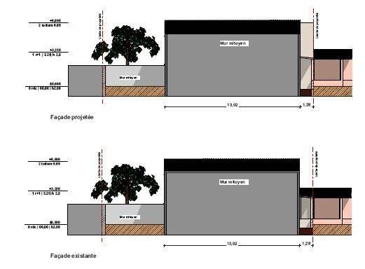 sur l vation maison individuelle saint cannat architecte. Black Bedroom Furniture Sets. Home Design Ideas